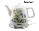 LuguLake Teapot Ceramic Electric Kettle, Cordless Water Tea, 1200ML