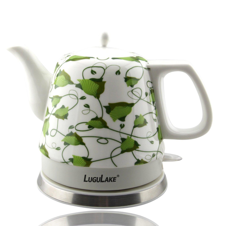 Porcelain Electric Kettle ~ Lugulake teapot ceramic electric kettle cordless water