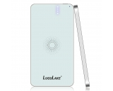 LuguLake 4200mAh Qi-Enabled Wireless External Battery Power Bank w/ Inductive Charger Pad Station